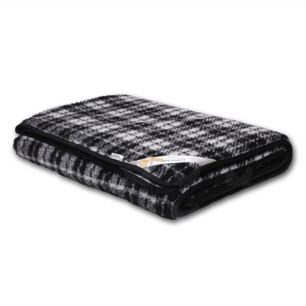 Black-Jack fekete-fehér kockás takaró