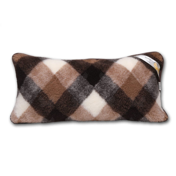 Brownie kockás nagypárna - kasmír-merinó gyapjúból