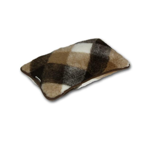Brownie kockás wellness párna - kasmír-merinó gyapjúból