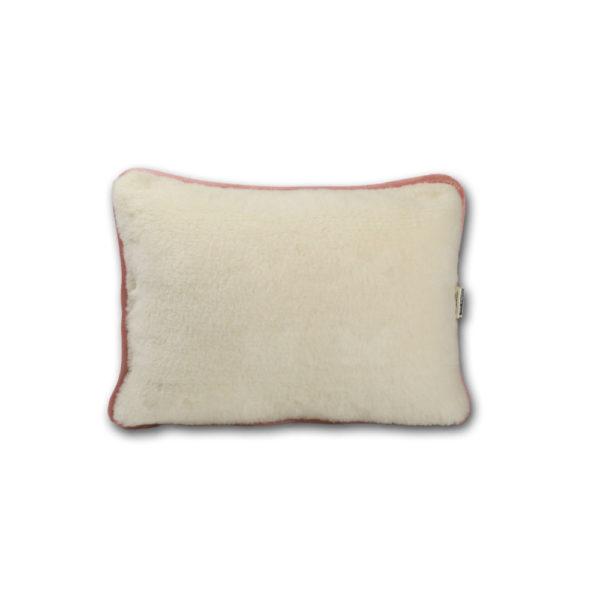 Favorit rózsaszín szegélyű kispárna kasmír-merinó gyapjúból