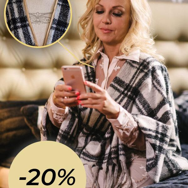Kaschmir Gold® női gyapjúmellény, poncsó