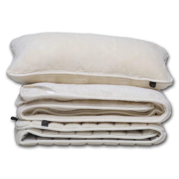 A Queen garnitúra tartalma - derékalj, takaró, párna